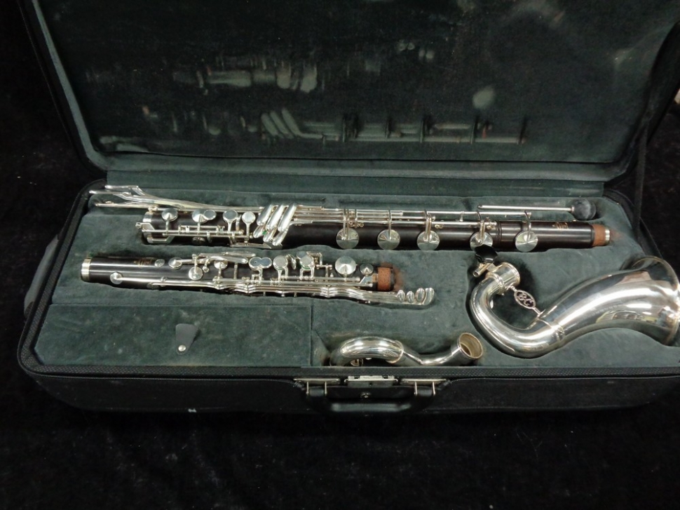 Photo Excellent Condition Buffet Crampon Prestige Bass Clarinet to Low C - Serial # H42090