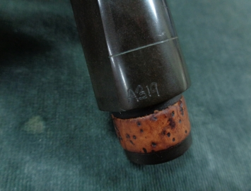 Photo James Kanter Hard Rubber Bb Clarinet Mouthpiece, SN A319