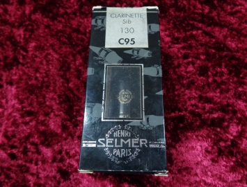 Photo Older Stock Selmer Paris C95 130 Hard Rubber Mouthpiece for Clarinet in Box