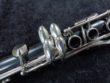 Photo Buffet Crampon Pairs France R13 Bb Clarinet with Nickel Silver Key Work, Serial #101687 - Fresh Re-Pad