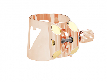 Photo Vandoren Optimum Ligature for Bb Clarinet in Pink Gold Plate