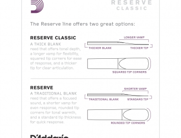 Photo D'Addario Reserve Classic Reeds for Bb Clarinet