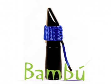 Photo New Bambu Hand Woven Ligature for Bb Bass Clarinet